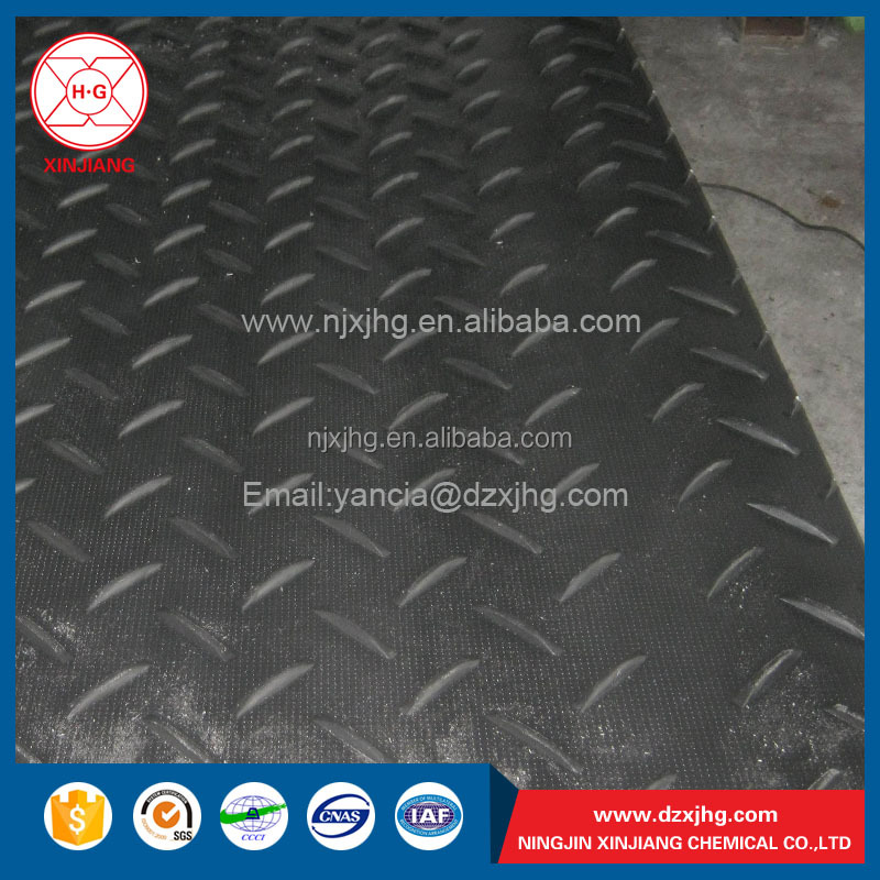 Anti-slip uhmwpe plastic road plate/uhmwpe ground temporary roadways