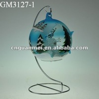 Hand Blown iron craft stand for home decoration