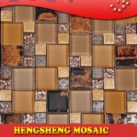 Latest design decoration wall tile floor tile glass mix ceramic mosaic carbon fiber roof tile