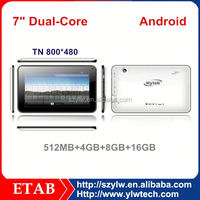 A23 dual core 7 inch best low price tablet pc