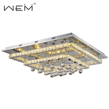 Decoration Square Shape Two Tier Modern lamp Led Crystal Ceiling lighting UL/CUL/CE listed