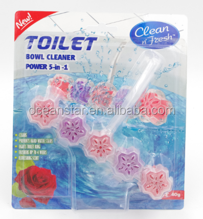 5 in 1 toilet air freshener , rose/ lemon/pine/ ocean scents