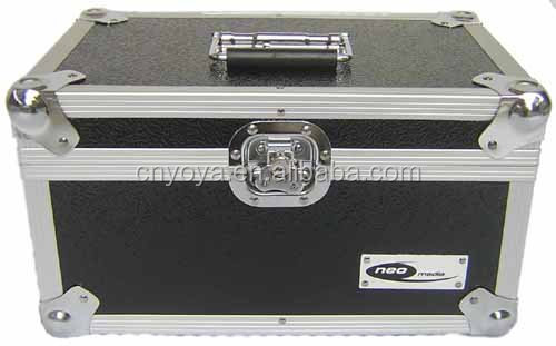 "200 x 7"" Vinyl Record Aluminium DJ Storage Case - Black"