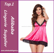 Sexy Nightgowns Satin Silk Nighties Women Erotic Sexy Lingerie Lace Sleepwear Sexy Babydoll Sleepwear Porn Dress
