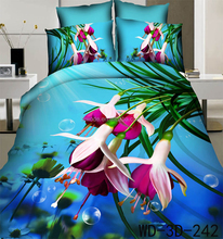 Plain Style and All Age Age Group 3d bed sheet