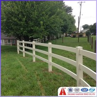 vinyl pvc used horse rails fences