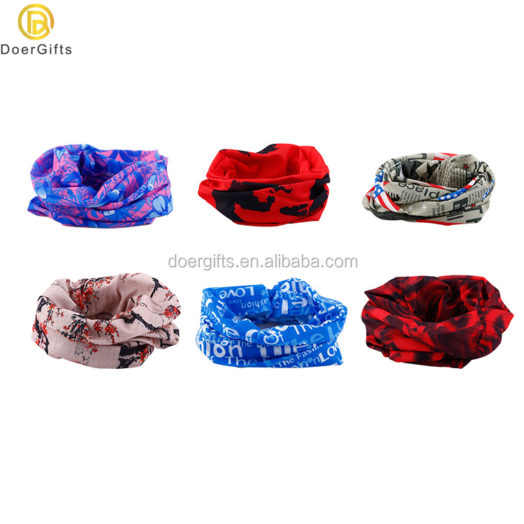 Multifunctional Cheap Customized Tubular Men's Scarf Bondage Bandana