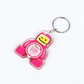 PP Cartoon shape promotional beer bottle opener fridge magnet