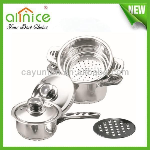 6pcs stainless steel cooking pot set / kitchen pot and pan sets/ european cookware