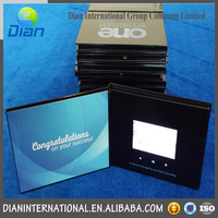 Customized Full Color TFT LCD Video Greeting Cards, Video Brochure