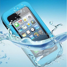 Silicone waterproof cell phone case for iphone 4 4s 5 5s 5c 6 6s plus