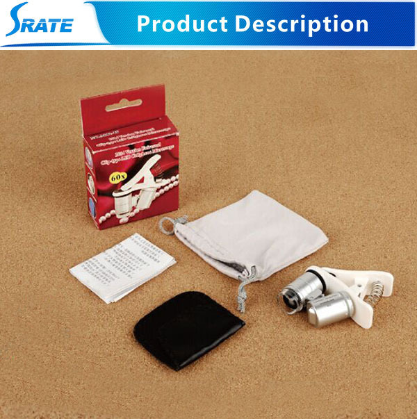 NO.9882W 60X LED Cellphone smart mobile phone pocket microscope