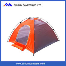2017 190T polyester cotton fashion colorful pink camping tents