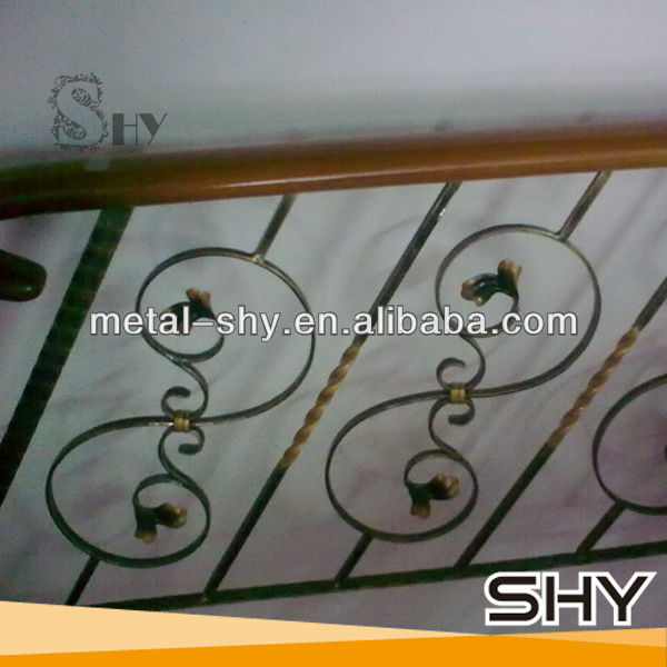Decorative Interior Stair Railings, Wrought Iron Indoor Stair Railings for Stairs