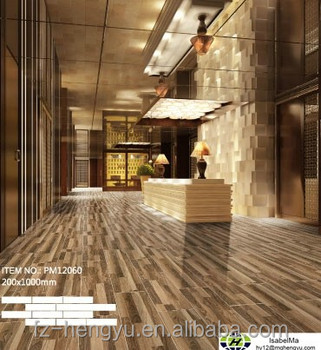 200x1000mm New 3D inkjet Wood Design Ceramic Floor Tile