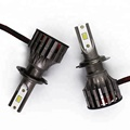 car LED headlight 9012 light with Cooling  H1 H3 H4 H7 H8 9004 9005  K7 auto led head lamp