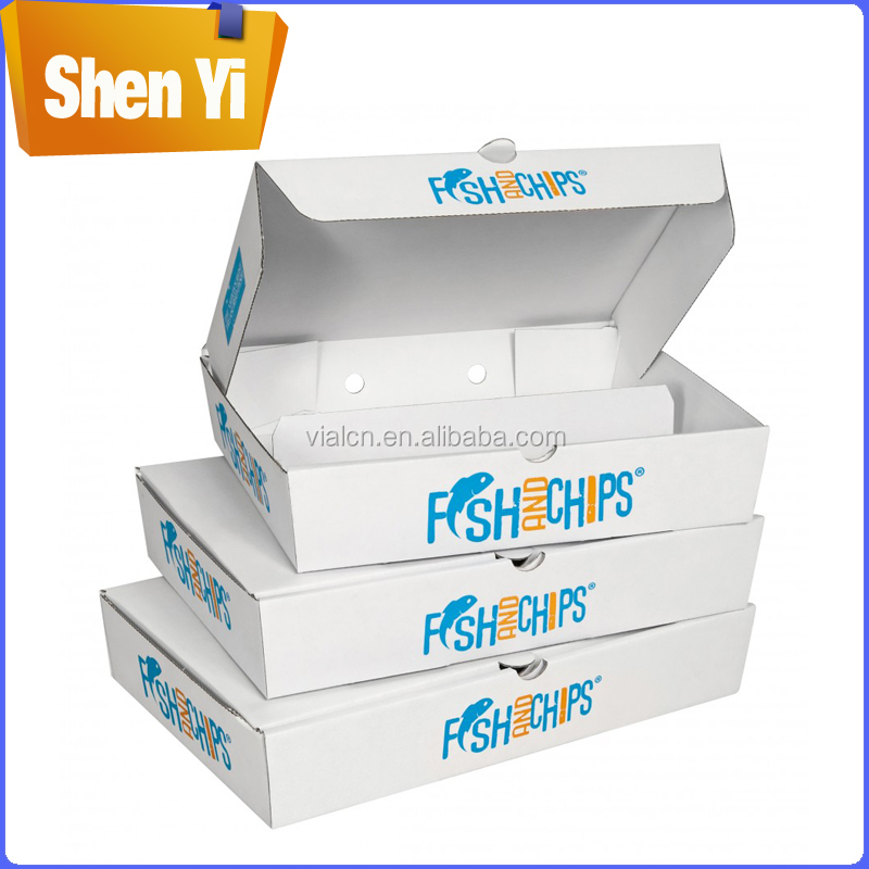 Competitive price coating paper boxes fish and chips paper boxes for packaging