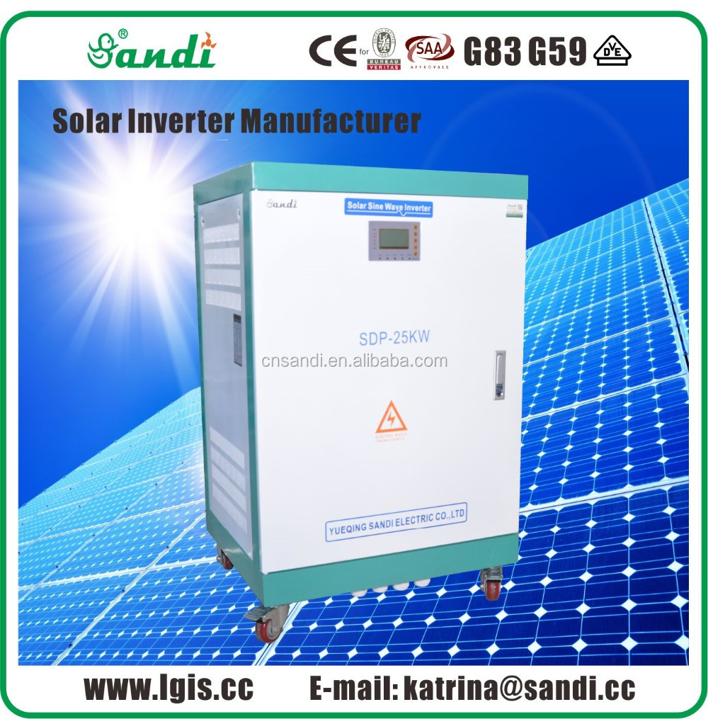 25kW/240V DC to 220VAC Pure Sine Wave Home Solar Inverter
