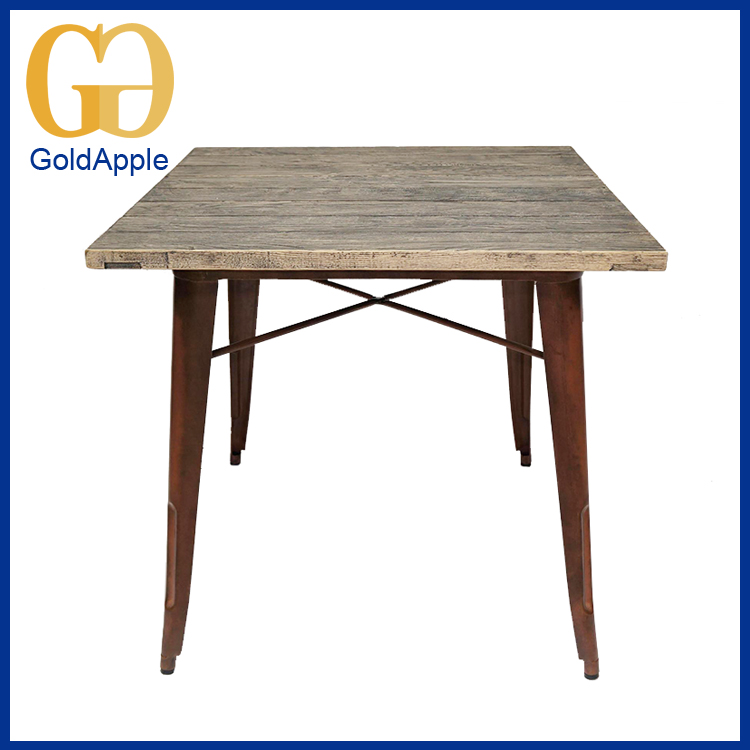 round adjustable furniture steel frame with wood top bar table for sale