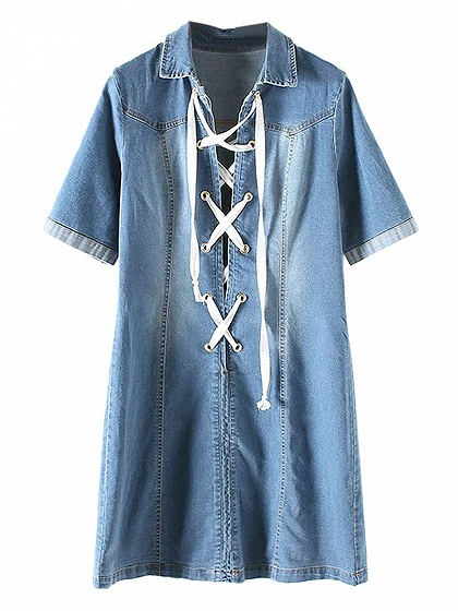 2016 maxi jean shirt dress new style denim