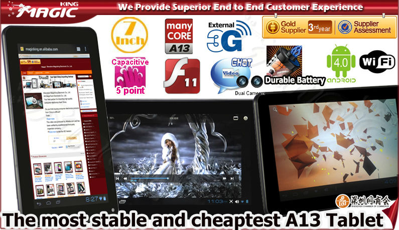 Android 4.0 tablet pc q88 boxchip a13