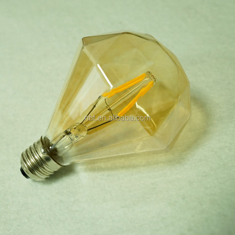 Most popular American countryside style DIY set 3.5w diamond led filament bulb with copper lamp holder
