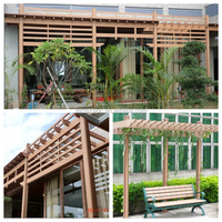 Elegent WPC pergola for Tea House Decoration