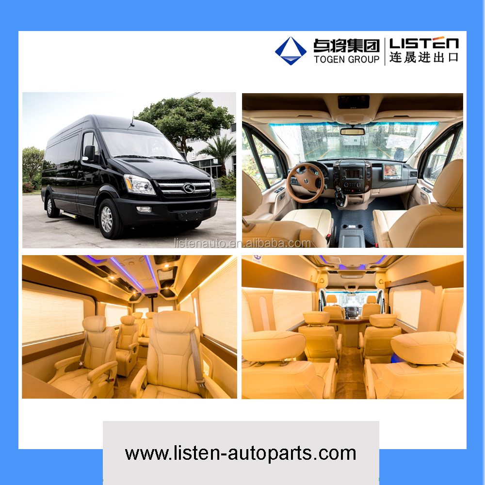 King Long brand customized RV van for commercial business purpose transport