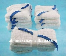 sterile cutted gauze laps folded medical supplies laparotomy sponges