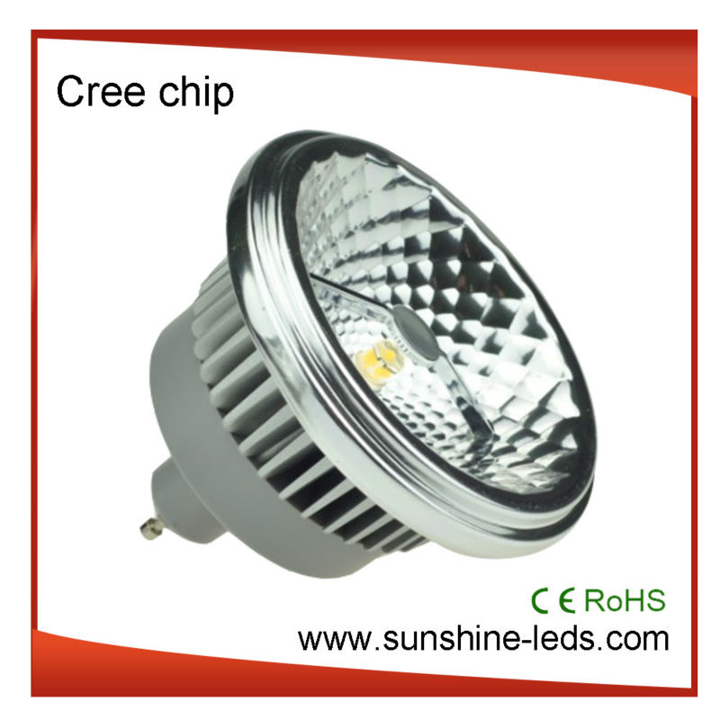 3 years warranty CE&RoHS Cree chips g53 12w led lamp ar111 220v