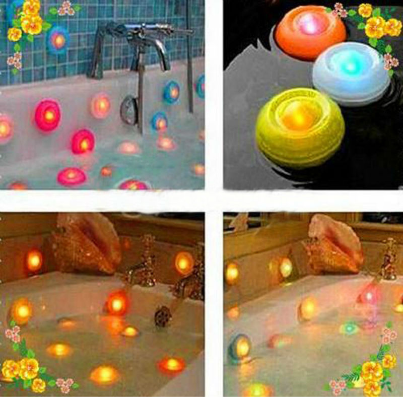 Decorative Color Change LED Night Light Bath Swimming Pool Floating Lamp