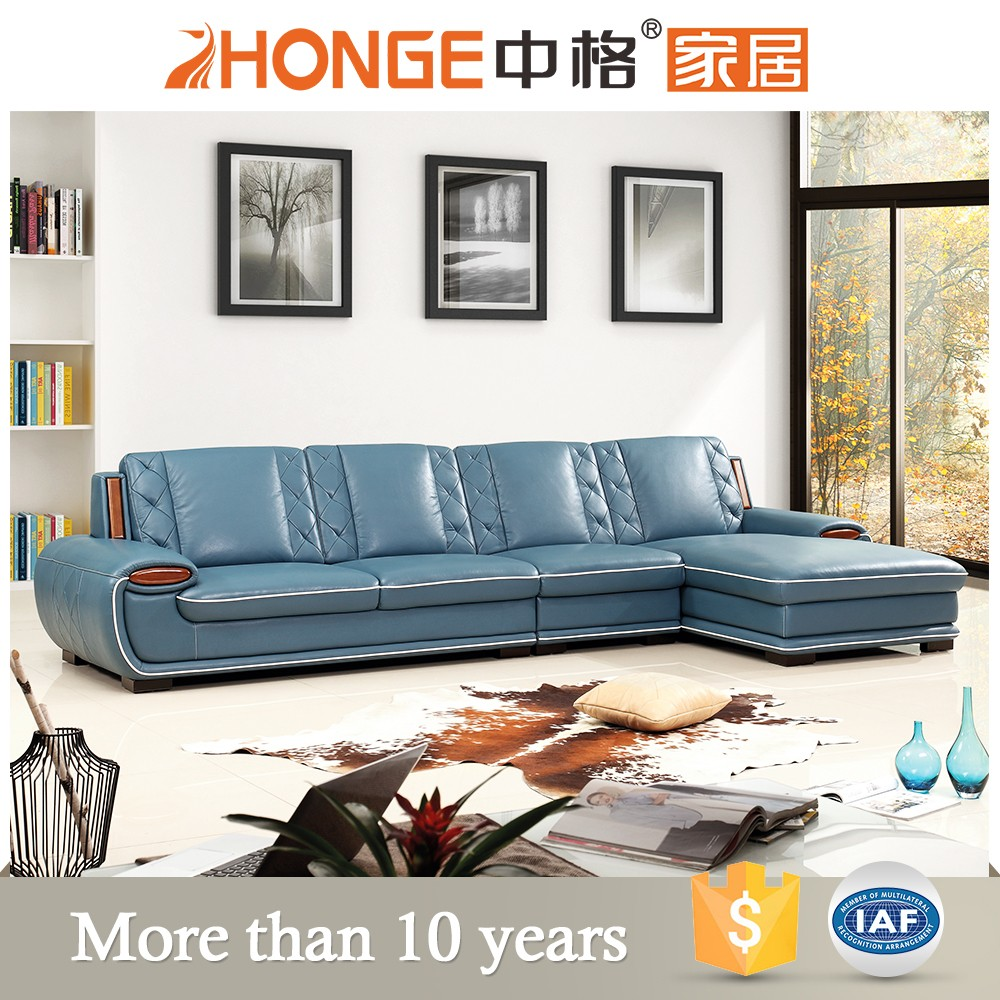 wood furniture latest design sectional corner leather sofa set relax