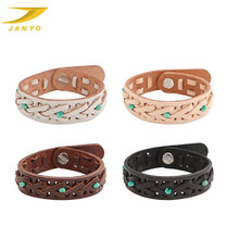 Janyo Wholesale Custom Bead Fashion Leather Hand Band
