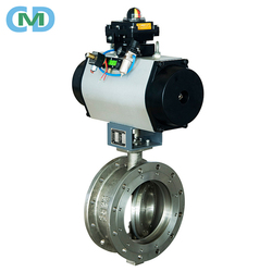 SS304 SS316 Solenoid Pneumatic Actuated DN150 PN 25 Flanged Butterfly Valve