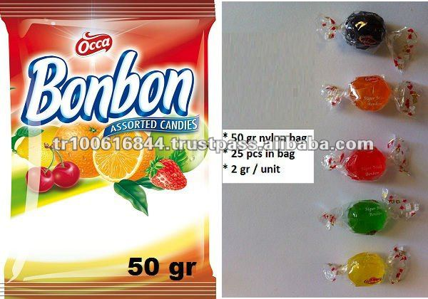 FRUIT FLAVOURED HARD CANDY- 50 GR BAG