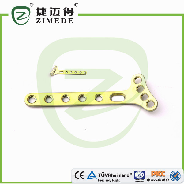 Medical bone healing oblique T plates for distal radius locking plate II surgical screws and plates