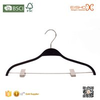 Eisho Strong Polished Chrome Swivel Hook And Hard Wood Laminated Hanger