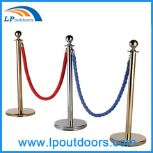 5m Stailess Pole with Velour Rope Queue Barrier Security Stanchion For Protection