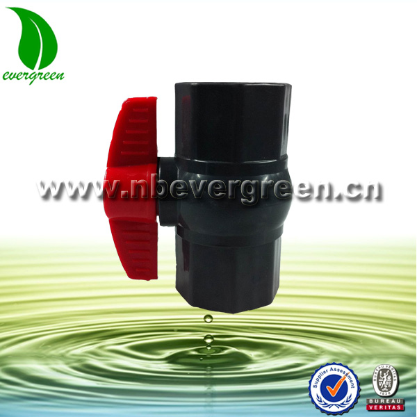 Ningbo Evergreen Octagonal UPVC water ball valve with ABS handle