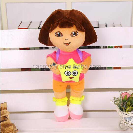 Wholesale cartoon character explorer dora plush toys cheap soft toys
