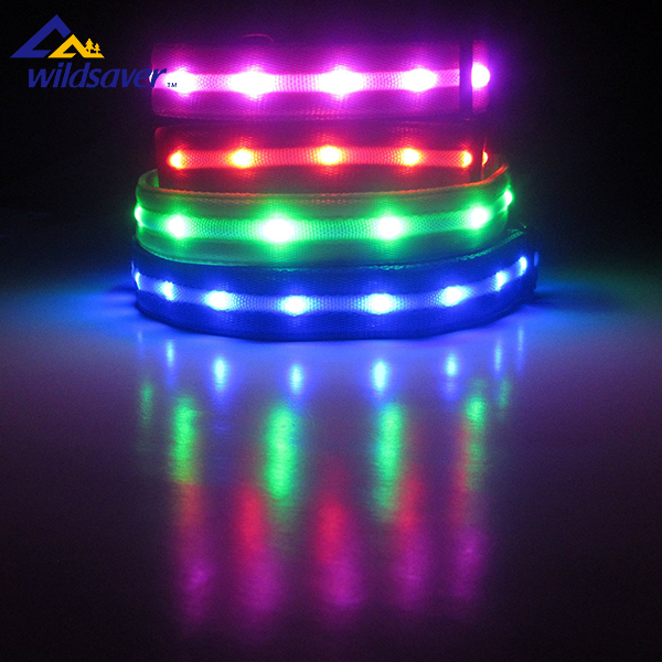 Dongguan led lighted flashing dog safety collar for hunting dogs