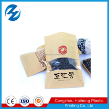 customized food packaging paper pouches with window for nuts