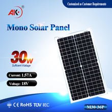30W 18V Mono photovolatic solar panel kit 30w mono solar panel, For Dubai Egypt Mexico Pakistan
