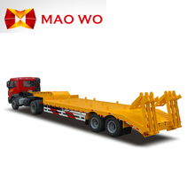 MAOWO brand truck lowbed semi trailer for heavy equipment transportation