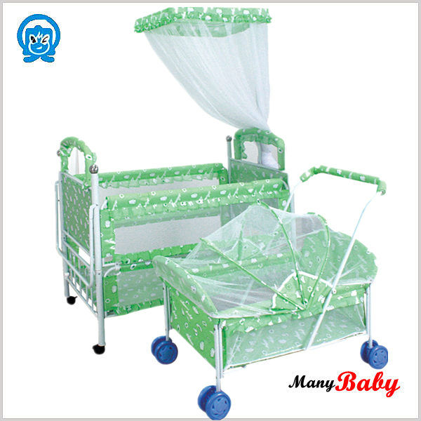 2015 new arrival Stainless steel New Born Baby Bed Baby Cribs Cot Bed Prices,Baby CribS Hanging Toy Cot Bed with wheels