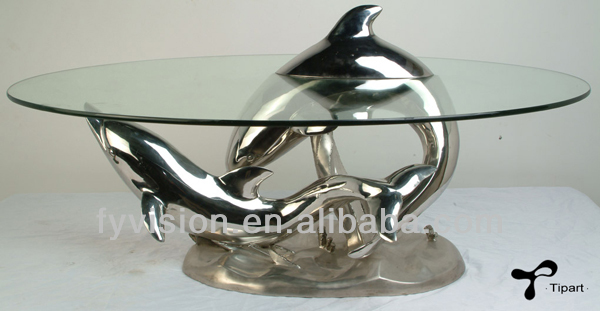 Animal Modern Home Furniture Coffee Table with galss