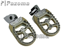 PAZOMA Four colors Supermoto Footpeg CNC Aluminum Billet MOTORCYCLE PARTS FOOT PEG FOR YAMAHA color in TI