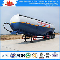 China factory price powder 3 axles used bulk cement trailer