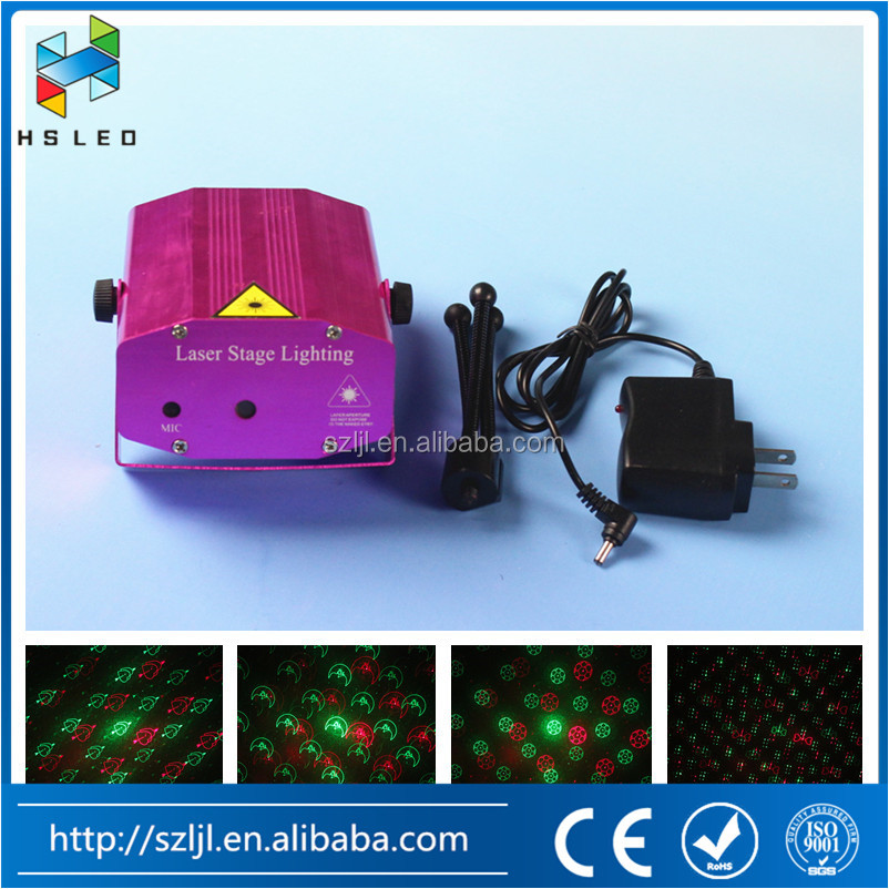 8 Patterns LED Laser Projector DJ Disco Light Music Activated Stage light for Party