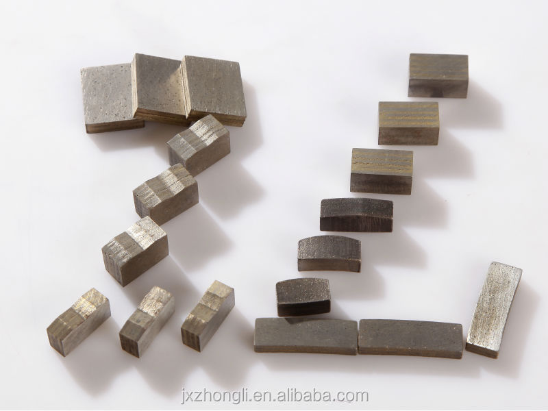 diamond segment for hard granite cutting,zhongli diamond segment for granite,stone cutting segment
